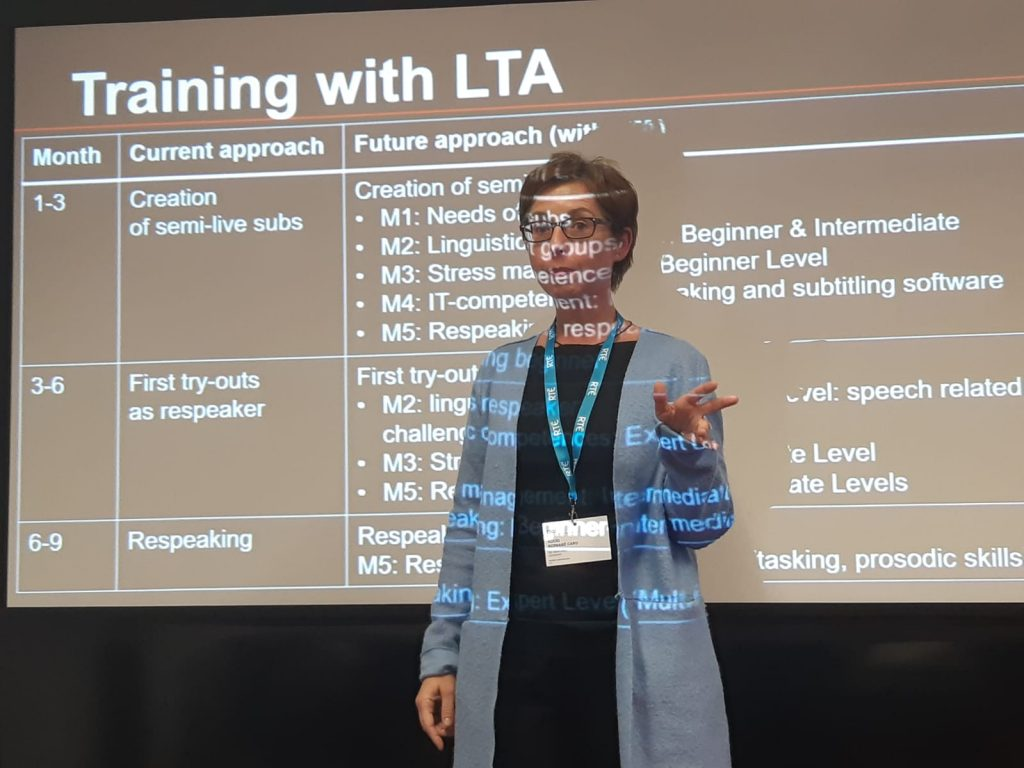 Rocío Bernabé explains how to organise LTA training to meet the needs of broadcasting companies